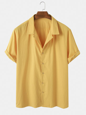 100% Cotton Solid Color Shirt