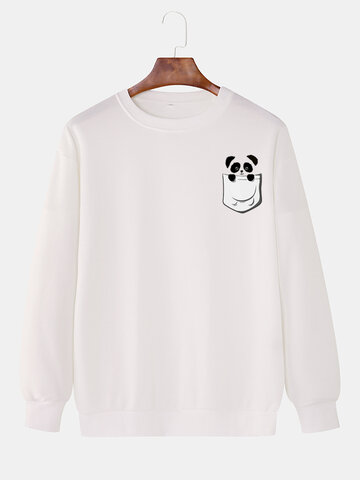 Cotton Cartoon Animal Print Sweatshirts