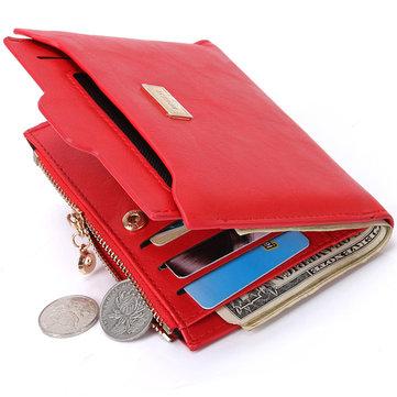 Monedero extraíble elegante de la PU del monedero de la cartera de Wristlet de la cartera de la PU de la mujer