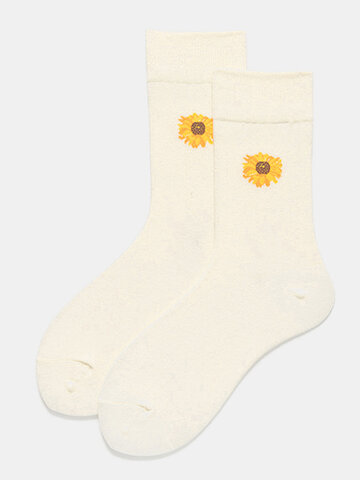 Women Floral Anti-slip Tube Socks