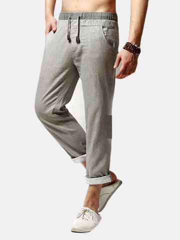 Loose Fit Flax Leisure Pants