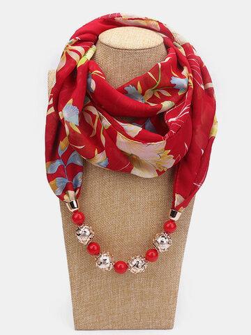 Printed Chiffon Multi-layer Necklace