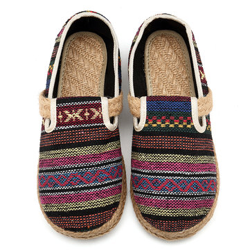 Folkways Casual Weave Cotton Cloth Flats
