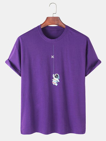 100% Cotton Astronaut Printed T-shirts