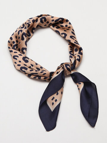 Scarf Silk Products Decorative Square Scarf Leopard Scarf