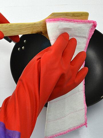 50 cm di lattice di gomma per stoviglie, lavaggio, pulizia, lungo Guanti guanto da cucina per la casa