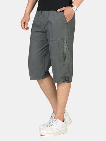 Shorts respiráveis Loose Fit Casual Cargo