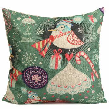 Cute Christmas Series Decorative Throw Pillow Case Square Sofa Office Cushion Cover