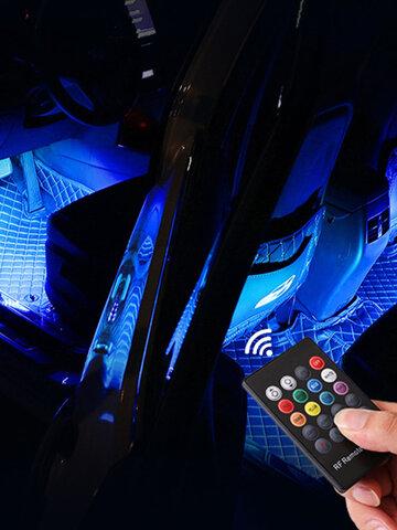 17/22/32cm 12V USB Power LED Neon Car Atmosphere Light Romantic Creator 5050 RGB 8-Colors APP Remote Control Car Decor Light