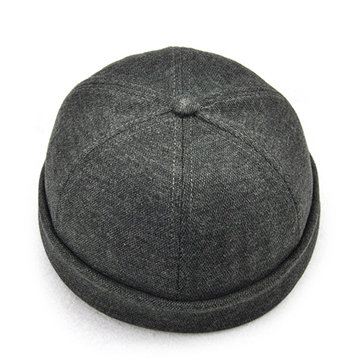 Solid Skullcap French Bucket Cap