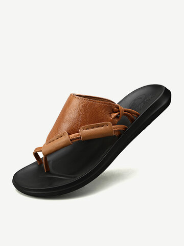 Men Leather Beach Water Shoes