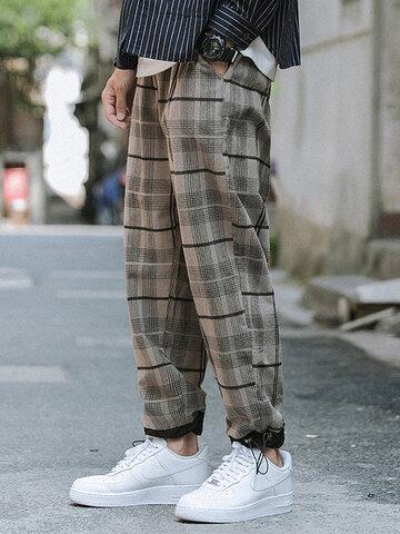 100% Cotton Tartan Cargo Pants