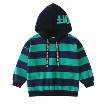 Striped Hooded Boys Tops For 4Y-15Y