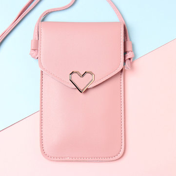 Women Heart Shaper Flap Shoulder Bags