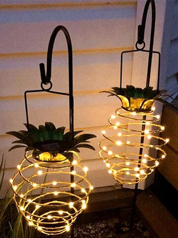 Led Solar Pineapple Light Garden Decoration Lantern Outdoor