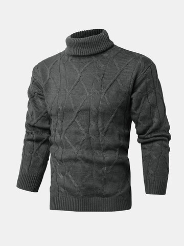 Rib-Knit High Neck Sweaters