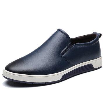 Men Large Size Vintage Slip-ons Loafers