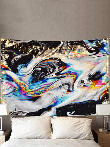 Tapiz de gouache colorido tapiz de arte psicodélico tapiz de remolino de mármol tapiz de paisaje natural Patrón