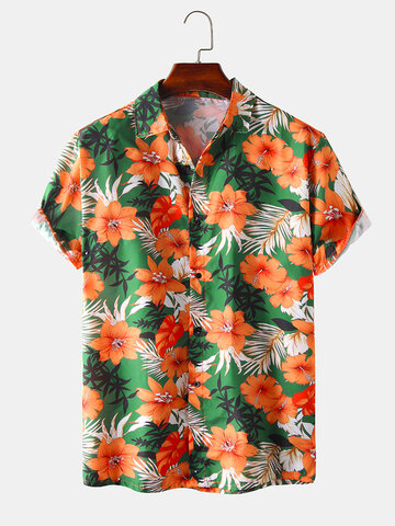 Holiday Floral Printed Cotton Shirts