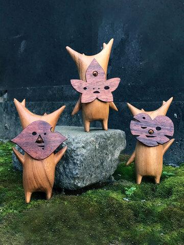 1PC Handmade Wooden Koroks Family Zelda Game-theme Hand Puppet For Home Garden Decor Game Lovers