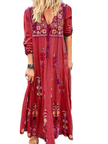Bohemian Embroidered Dress