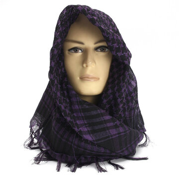 Unisex Women Men Lightweight Tactical Desert Arab Shemagh Keffiyeh Palestine Scarf Shawl