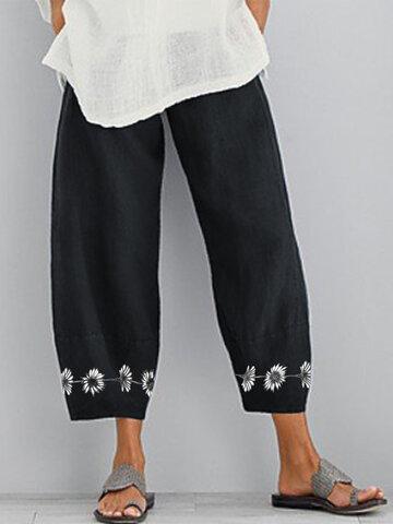 newchic / Flower Print Loose Pants