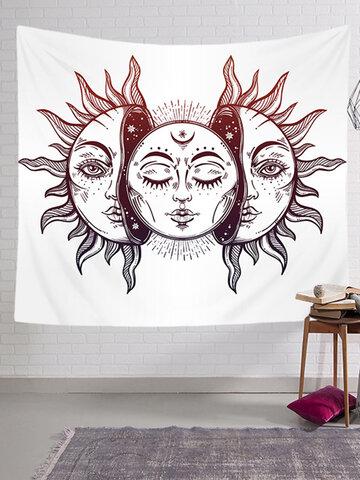 Tapiz colgante de pared Vintage Bohemian Tarot Sun Patrón