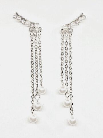 Fashion Chain Tassels Earrings
