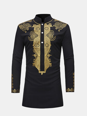 African Ethnic Style Printed T Shirts
