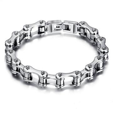 Bracelet en chaîne Punk Bike Rock Motorcycle Bike Bracelet chaîne en acier inoxydable