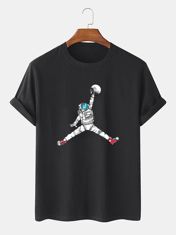 Astronaut Graphic Basic T-shirts