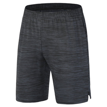 Mens Quick-drying Breathable Knee Length Casual Shorts Fitness Jogging Sport Shorts, Black