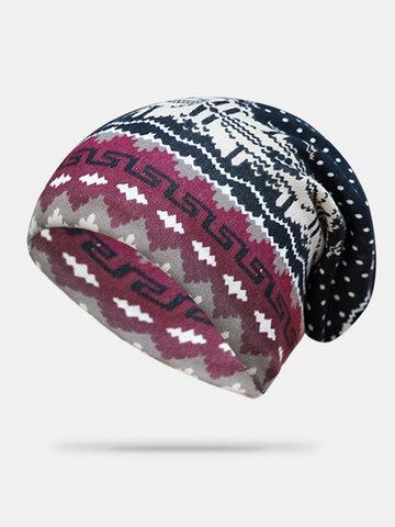 Women Cashmere Dual-purpose Ethnic Style Beanie Turban Scarf