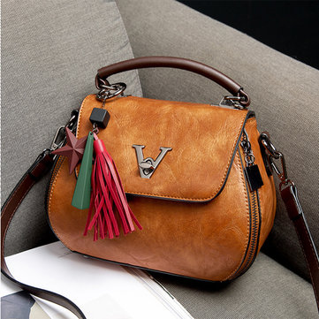 Vintage Tassel Bucket Bag Shoulder Bag For Women
