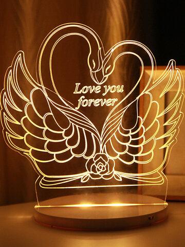 Swan 3D LED luz de noche