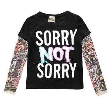 Printed Boys Long Sleeve T Shirt For 1Y-9Y