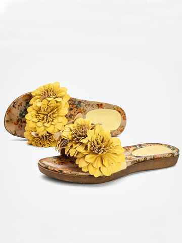 Flowers Beach Home Slippers