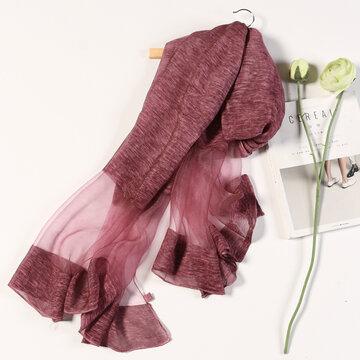 190cm*90cm Oversize Artificial Silk Scarf