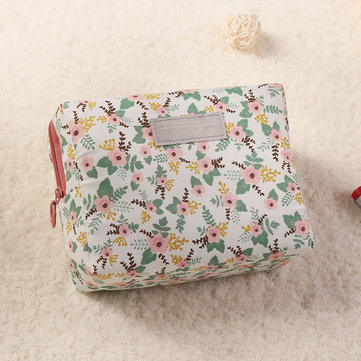 Print Cotton Small Cosmetic Bag