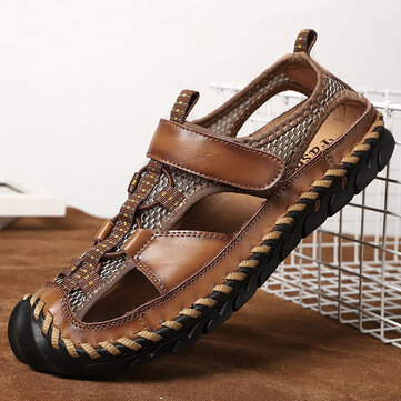 Men Hand Stitching Leather Sandals
