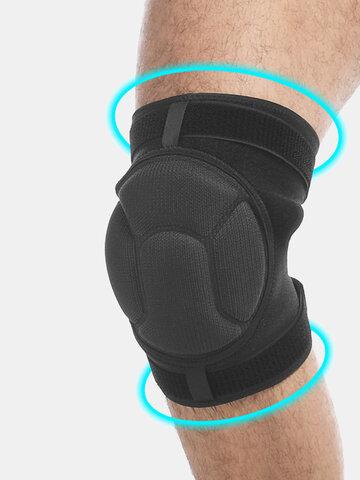1 paio di cuscinetti per il supporto del ginocchio sportivo