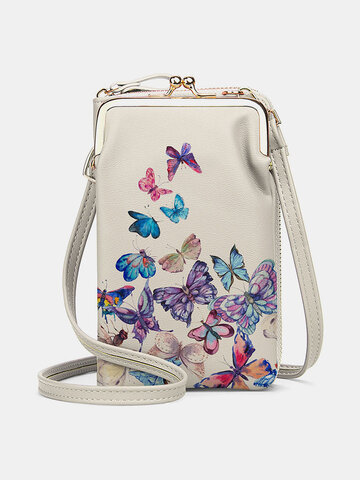 Colorful Butterfly Pattern 6.5 Inch Phone Bag