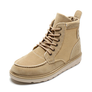 Men Canvas Splicing Casual Ankle Boots