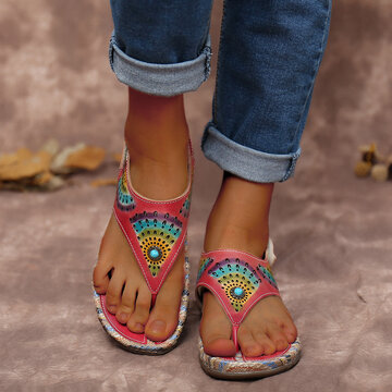 Leather Thongs Sandals Espadrilles