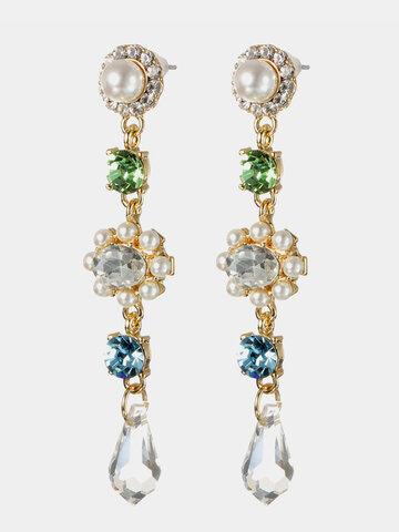 Women's Gemstone 18K Gold Earrings