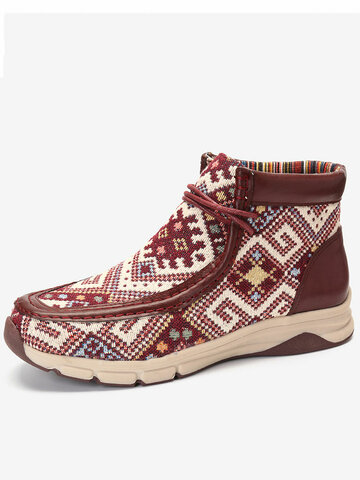 Embroidered Slip Resistant Outdoor Boots