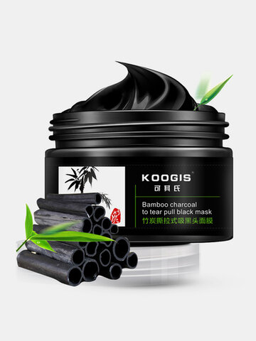 KOOGIS Bamboo Charcoal Tearing Facial Nose Blackhead Removal Deep Cleansing Mask