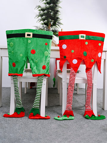 1Pc Christmas Chair Covers Santa Claus Hat Christmas Dinner Chair Back Covers Table Party Decor