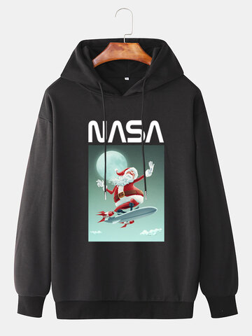 Santa Claus Graphic Print Hoodies